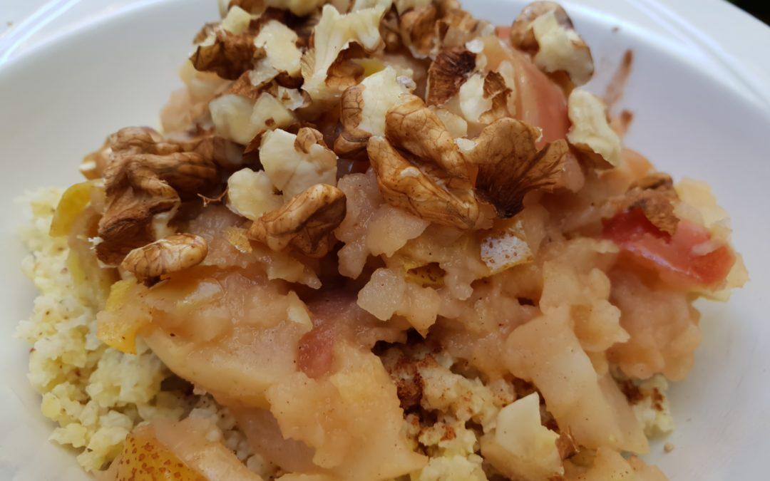 kasza jaglana na słodko – jesienne, ciepłe śniadanie